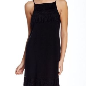 NWT Townsen Manila Fringe Black Knit Fringe Dress